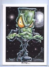 2 CARD HALLOWEEN SET ** TRADING CARD ART SIGNED by RAK ** NEAR MINT SEE MY STORE
