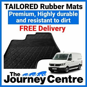 VW Crafter 2017 on - Tailored Front Rubber Floor Mats Premium Van Mats