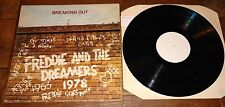 FREDDIE AND THE DREAMERS ~ BREAKING OUT ~ UK WHITE LABEL LP SIGNED BY FREDDIE