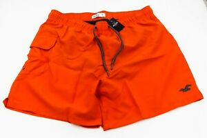 "NEW Hollister Mens Size XL Guard Fit 5"" Inseam Swim Trunks Shorts NWT Orange"