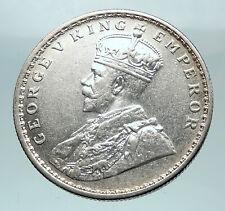 1916 INDIA UK King George V Silver Antique RUPEE Vintage Indian Coin i81492