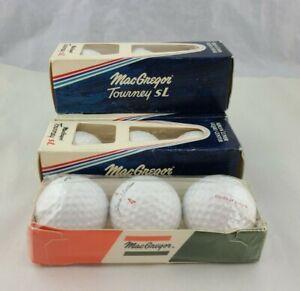Vintage MacGregor Tourney SL and Jack Nicklaus Golf Balls Lot of 12