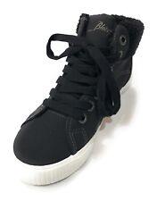 Blowfish Malibu Forest Black Suede Sneaker Boot Womens High Top Sneaker 7M NIB