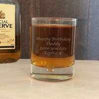 Personalised Engraved Whisky Tumbler Glass Gifts For Men Dad Grandad Uncle Him