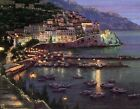"""Art Print Seaport night Oil painting Picture Printed on canvas 16""""X20"""" P101"""