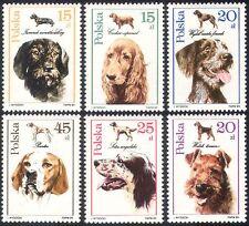 Poland 1989 Dogs/Pets/Animals/Nature 6v set ref:s2627