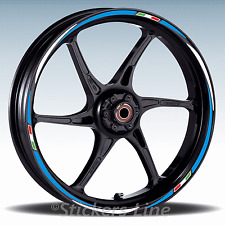 Adesivi ruote moto strisce cerchi per SUZUKI GSR 750 mod.Racing 3 wheel stickers