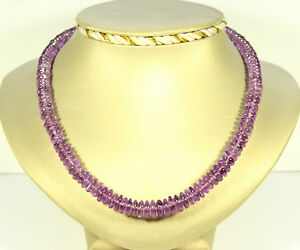 Amethyst Necklace Precious Stone Natural Beads Purple Necklace Ladies 45 CM