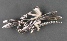 925er Silber hochwertige Jugendstill-Brosche Putto auf Libelle neu 9901023