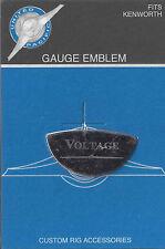 gauge emblem voltage stainless steel etched block lettering for Kenworth