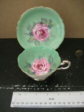 VINTAGE PARAGON PRETTY CHINA CABINET  CABBAGE ROSE  CUP & SAUCER