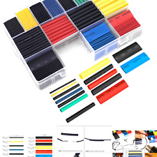 Ginsco 580 Pcs 21 Heat Shrink Tubing Kit 6 Colors 11 Sizes Assorted Sleeving