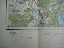 Landkarte Blatt 11 Königswusterhausen Königs-Wusterhausen Landesaufnahme ca.1940