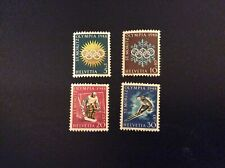 1948 Switzerland Fifth Wnter Olympic Games cset of 4 Stamps