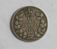 1929 Silver Canadian 10 cents EF-40 condition