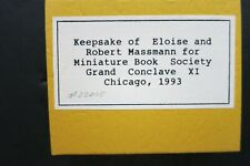 Robert E Massmann / CONCLAVE KEEPSAKES Limited Edition 1993