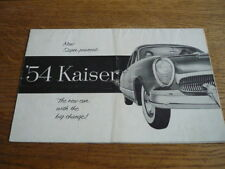 Kaiser BROCHURE AUTO 1954 (include Darrin) USA