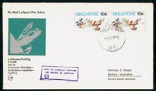 MayfairStamps Singapore 1974 to Sydney LH 690 DC 10 Lufthansa First Flight Cover