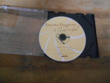 CD Pop Aretha Franklin - Wonderful (1 Song) Promo ARISTA disc onöy