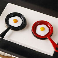 1:12 Dollhouse Miniature Kitchen Utensil Pan Fried Egg Model Accessories T Ws