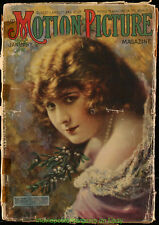 MOTION PICTURE MAGAZINE 1918 January Issue -  PEARL WHITE On Cover