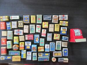 Kaufmannsladen Zubehör 52 Schachteln 2 Blechdosen 1 Geobra Kasse Reklame Werbung