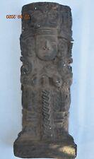 "Sale! Pre Columbian Mayan Crypt Limestone Figure, glyphs 6"" Prov"
