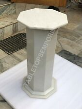 "24"" White Marble Handmade Stand/Pedestal Hallway Decor E529"
