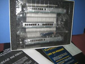 Ho Rapido Turbo Train, New Haven. 3 car w/Both powered units. New in box C-10 sc