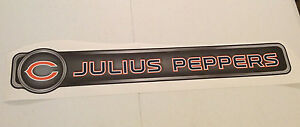 """Julius Peppers FATHEAD Official Player Nameplate 34"""" x 6"""" Wall Graphics BEARS"""