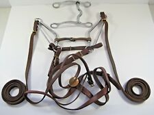 Horse Tack Leather Brass Steel Bridle Reigns Copper Snaffle Equine Horse Halter