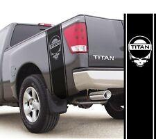 Fits Nissan Titan Skull Vinyl Stripes Rear Bed Racing Decals Off Road Stickers