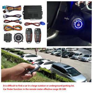 Car Keyless Entry Engine One-button Start Switch Remote Locating Alarm System