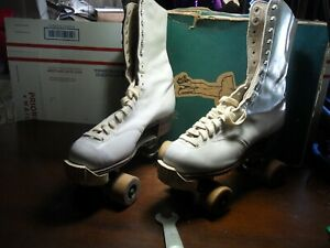 VTG Chicago Roller Skates W/ Key BETTY LYTLE By HYDE Supreme Deluxe Women's SZ 8