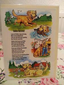 CARRICATURE DOG BIRTHDAY CARD (GOLDEN RETRIEVER)