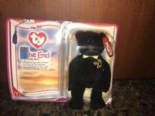 NIB 2000 McDonalds ty The End Bear Teenie Beanie Babies Happy Meal Toy
