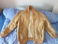 Lammfell Velours Vintage 70s leder Jacke leather jacket unisex weich warm smooth