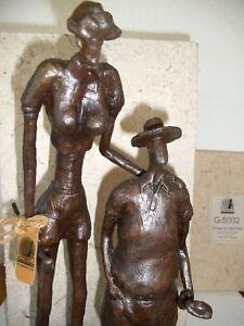 Bronze Statue Figur Skulptur Golfspieler Golfschläger Tiger N. Chan Golfball
