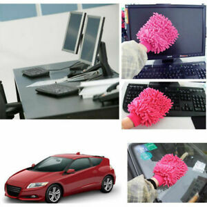 Car Washing Glove Microfiber Mitt Towel Kitchen Cleaning Sponge Coral Chenille
