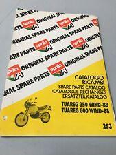 Aprilia catalogue pièces détachées Tuareg 300 600 Wind 1988 parts list chassis
