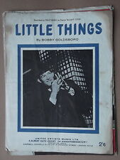 BOBBY GOLDSBORO - LITTLE THINGS sheet music