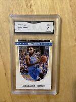 2011 NBA Hoops James Harden Graded 9 Mint
