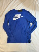 NWT Nike The Nike Tee Athletic Cut Long Sleeve Blue  T-Shirt Men's size XL $30