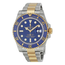 Rolex Submariner Blue Index Dial Oyster Bracelet Mens Watch 116613BLSO