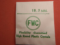 FWC HIGH ROUND Diamond Edge PLASTIC WATCH CRYSTAL 10.7 MM NOS