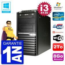 PC Acer Veriton M4630G MT i3-4130 RAM 8Go Disque Dur 2To Graveur DVD Wifi W7