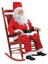 LIFE SIZE ANIMATED ROCKING SANTA OUTDOOR PORCH CHRISTMAS DECORATION DISPLAY