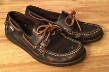 Sebago Docksides Dark Brown Leather Moccasin Boat Shoes Loafer Mens 8.5W