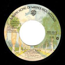 GORDON LIGHTFOOT Daylight Katy Vinyl Record 7 Inch US Warner Bros. WBS 8579 1978