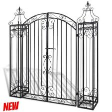 Driveway Garden Entry Metal Gate System Yard Fence Home Swing Door Wrought Iron